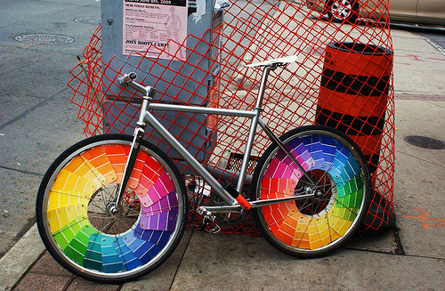 rainbow bicycle