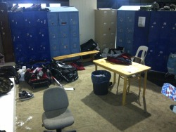 The always clean, Ice Arena staff room.