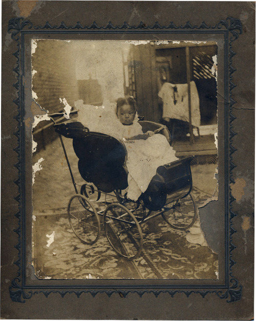 Baby Girl in Sleigh Buggy [Saulsberry Family Album, 1920's-30's] ©WaheedPhotoArchive, 2011