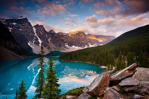 theworldwelivein:  Moraine Lake, Banff, Alberta, Canada © Dan Ballard Photography  Oh how I'm longing to go here…
