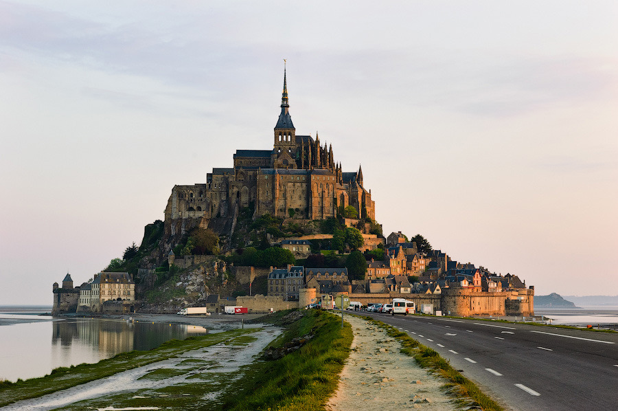 ysvoice:  | ♕ |  Mt Saint-Michel, Bretagne  | by markalev | via allthingseurope  wait, this is real?