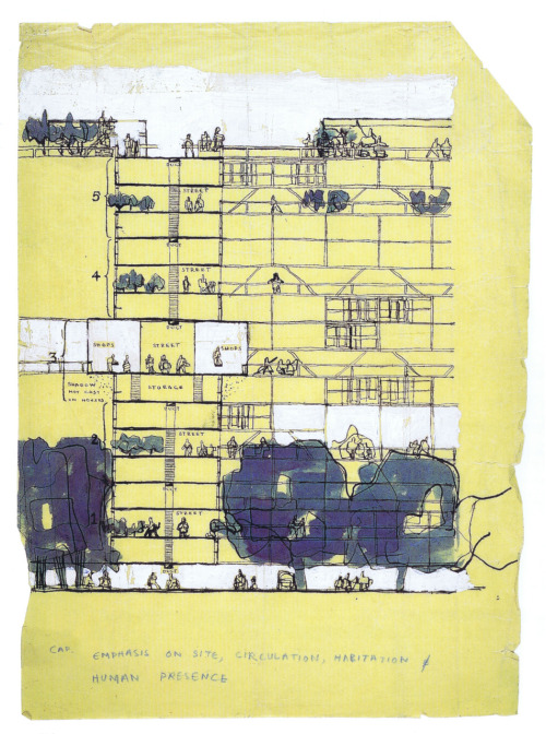 Golden Lane Housing (Project), 1952 (Alison & Peter Smithson)