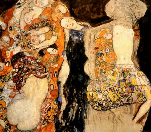 artemisdreaming:  The Bride (unfinished), 1917-18 Gustav Klimt Large image: HERE Detail