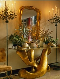 one of my faves too!   Biomorphic Console by Tony Duquette- One of my all time favorite pieces… truly inspired… via lerecherche