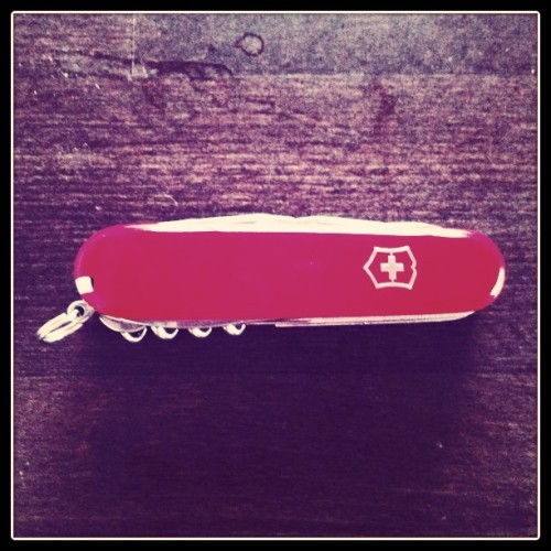 swiss knife saved my life (Taken with instagram)