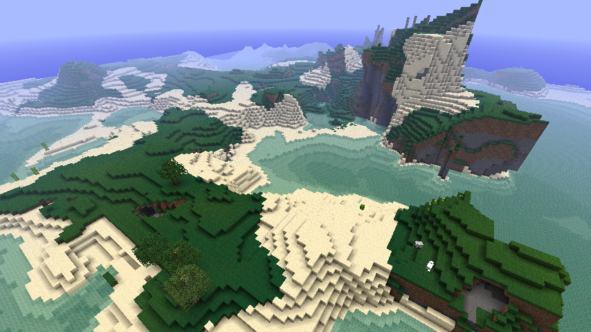 sheminecrafts:  Single Player World: -9028… Crescentish island :)