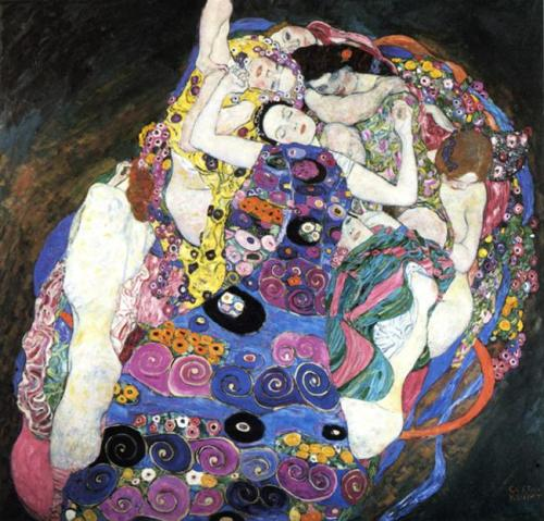 The Virgin, 1913 Gustav Klimt                   Detail
