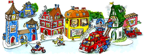 foreignspell:  Today's google doodle. Richard Scarry books were a big part of my childhood.