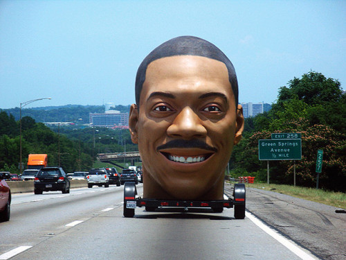 soundthat:  eddie murphy's giant head on the interstate by wereswan on Flickr.