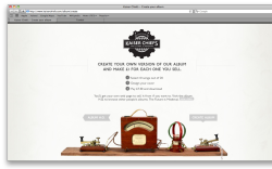 A fantastic idea from W+K UK for Kaiser Chiefs. Create your own album, choose 10 songs from 20, create your own album artwork for it, buy it and then if you like, sell it for profit! A great idea this and i'm sure it will see plenty of traffic in the not too distant future.
