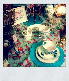 kissedbyarosevintage:  a pic from our stall today at West Norwood Feast (before the rain came)  This is how I spend my weekends with my bestie- please have a look at our site and/or tumblr. Love to know your thoughts.