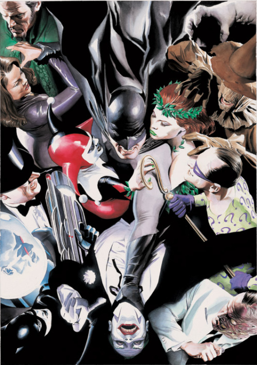 fyeahlilbitoeverything:  musictvcinema:  Amazing art from Alex Ross the illustrator :)   Now this is a Ross piece I like!