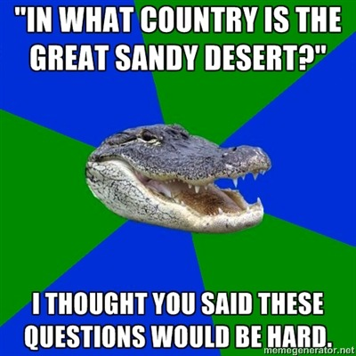It's Australia, but I would also have accepted the United States, although that desert is better known as the Oregon High Desert.