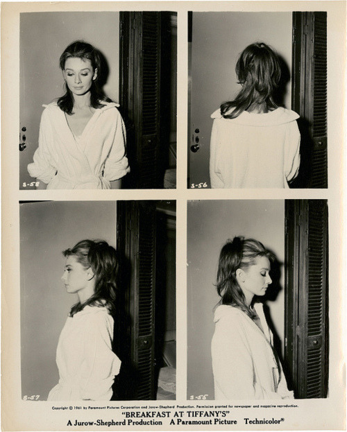 Audrey Hepburn, behind the scenes, Breakfast at Tiffany's via camfaye:lfnybethania