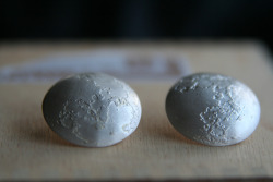 Moons to wear on your ears. Sterling Silver, 1in Diameter.