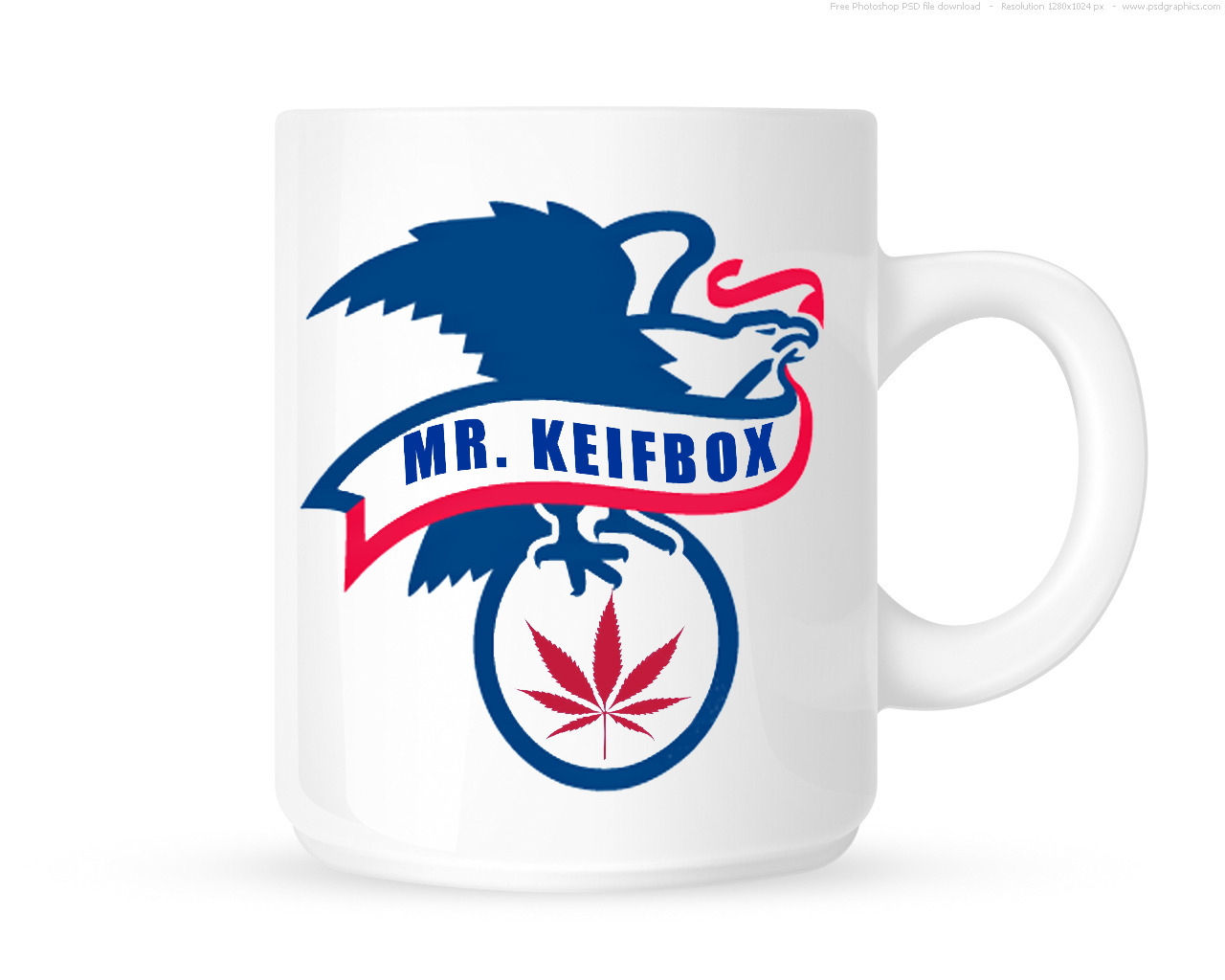 "Mr. Keifbox was looking for design work to put on some mugs at the upcoming Tacoma Hempfest.  He has a strong background as a union carpenter and wanted something to reflect his deep love and commitment to this country along with a little bit of the ""420"" attitude."
