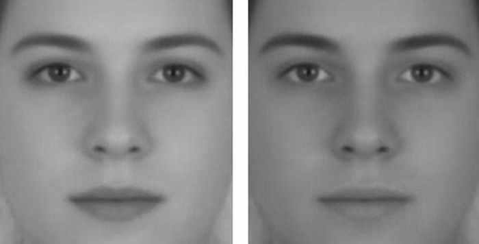 toocooltobehipster:  inkedimagination:  Two pictures with the exact same face. But, in one photo you see a girl and in the other one - a guy. The fact is that this face was created on computer by mixing male and female face features, which gave this androgynous face. With a change of contrast, our brain recognizes the face on the left as being a female one, while on the second photo, where contrast is higher, our brain recognizes it to be a male's face. For me, this is the best optical illusion of the century.