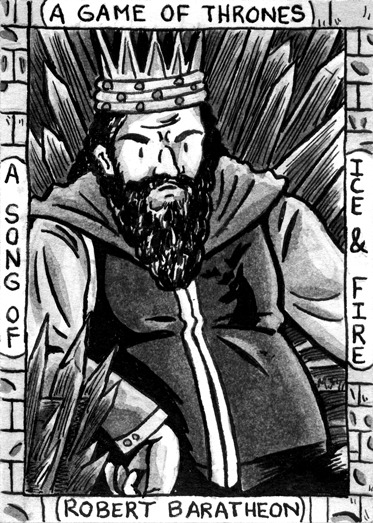 Sketch card based on George R.R. Martin's A Game of Thrones