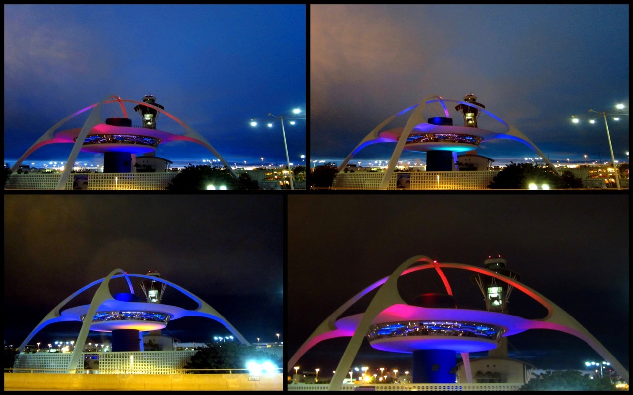 Sunset at LAX - These photos were taken at 10 minute intervals tonight, starting at about 8:00.