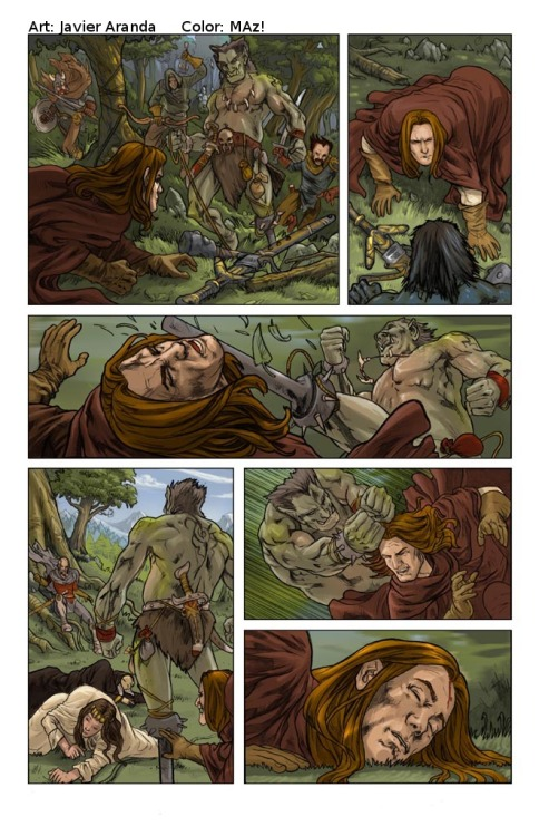 """Dragonlance Legends: War of the Twins"" #1 page 30 (Devil's Due) Pencils by me. Colours by Maz!. 2009."