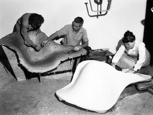 RAY and CHARLES EAMES working