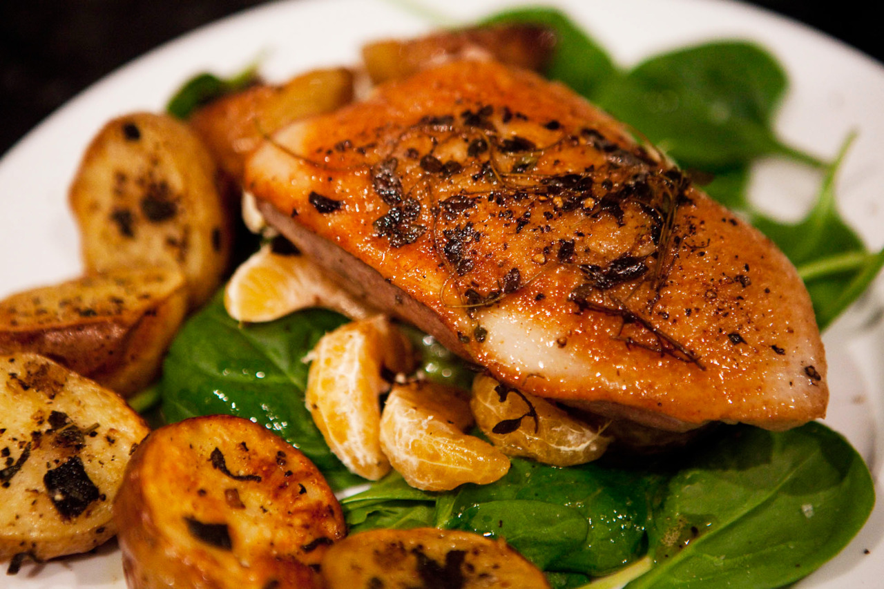how to cook duck breast without skin