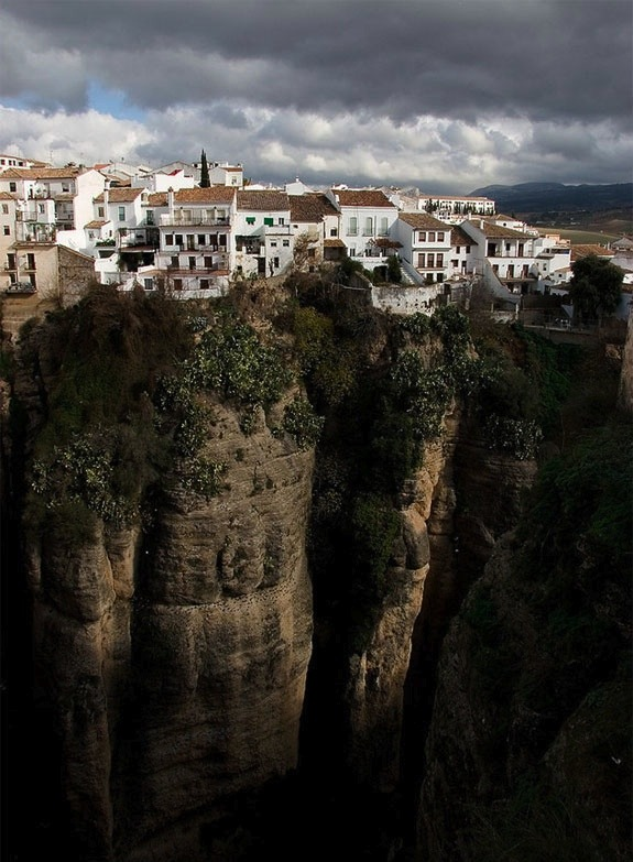| ♕ |  Historic cliff-hanger - Ronda, Spain  | by spotcoolstuff | via ysvoice