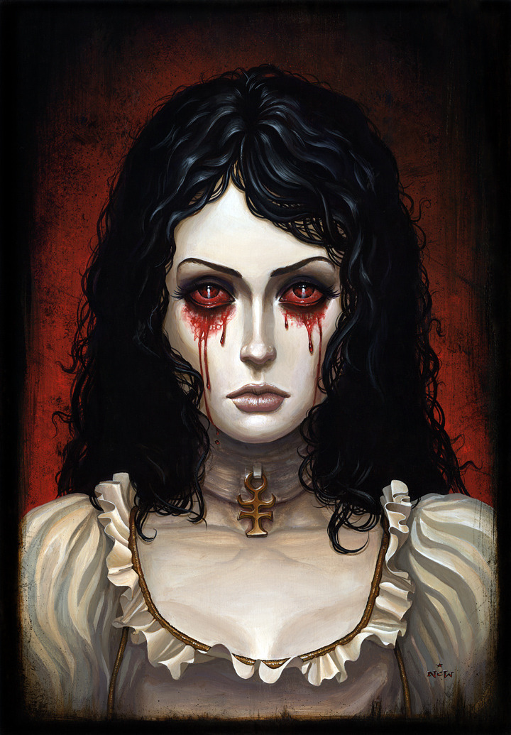 Hysteria by N.C. Winters Part of the upcoming American McGee's Alice art Show at Gallery1988