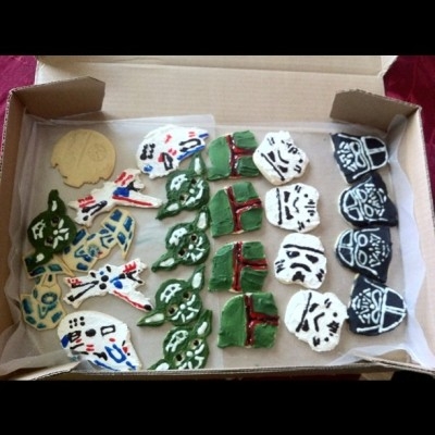 Birthday Star Wars Cookies (Taken with instagram)