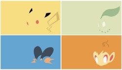 Minimalist Pokemon WallpapersYou can download them HERE (all 493)