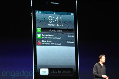 iOS 5's new notification center..