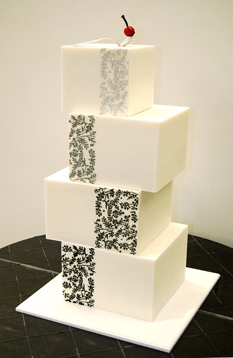 contemporary wedding cakes bridal snob modern contemporary wedding cake 12917