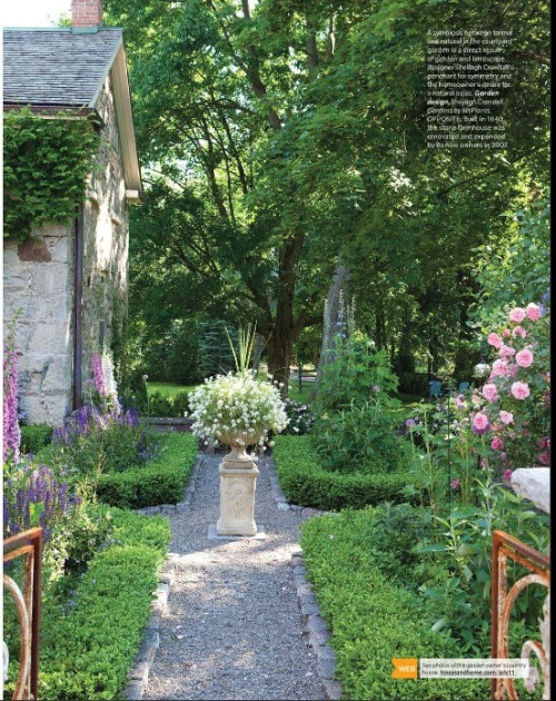 Sweet kitchen garden inspiration. I love the formal bed and the central point of focus.