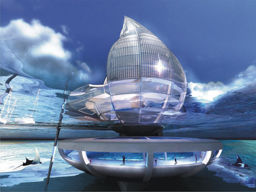architecturalrenders:  WATER BUILDING RESORT- TRANSFORMING AIR INTO WATER