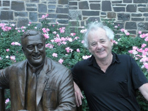 Bill Murray visited the Home of FDR National Historic Site and Franklin D.  Roosevelt Presidential Library and Museum on Sunday, June 5. Murray was working  (preparing for an upcoming film in which he plays the 32nd president) but took  time out to mingle with National Archives and National Park Service staff. He  ordered apple pie in the Henry A. Wallace Visitor Center's Mrs. Nesbitt's Cafe  and shopped in the New Deal Store for his children. He was most gracious and we  all tried our best NOT to smother our special guest with references to our  favorite Murray roles. FDR's beloved Roosevelt Library groundhogs (a twofer  there) were delighted he was not in character. Check out more from the FDR Library and Museum on Facebook.