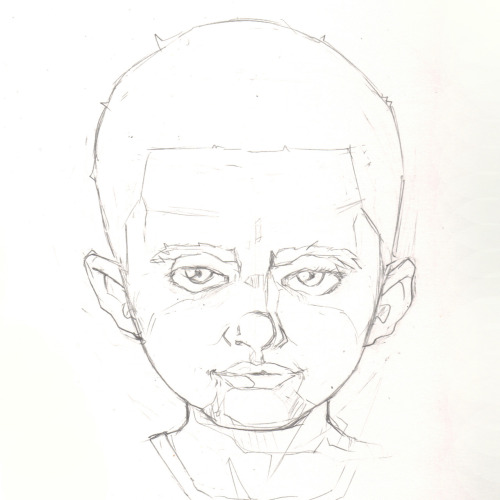 My Sketchbook: My son Xavier. Yes it's stylized, but his head IS that big! Love that boy.