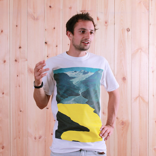 Yellow Fjord t-shirt by Zoë Austin for super superficial Photo by Ayako