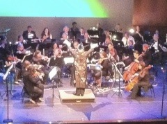On Saturday June 4th, the Audubon Symphony performed a wonderful concert at Shannondell Performing Arts Theater to a very nice sized crowd. Everyone had a great time.  (The orchestra decided it would be best for me to dress up like the Sorcerers Apprentice and dance around the podium for a bit. www.AudubonSymphony.org