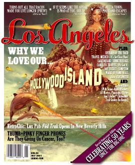 "My friend Lauren's contest submission for Los Angeles Magazine's ""50 Years Since the Big One"" Magazine cover contest. Yeah, that's Oprah with tentacles."