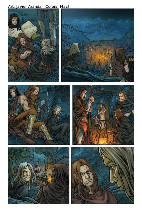 """Dragonlance Legends: War of the Twins"" #1, page 32(Devil's Due) Pencils by me. Colours by Maz!. 2009."