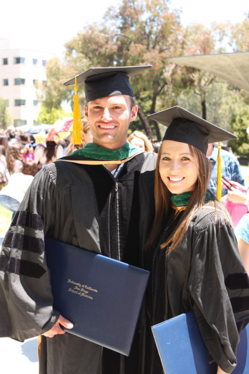 My younger brother and his fiance graduated from UCSD School of Medicine yesterday.  They are officially doctors.  Weird and amazing at the same time.