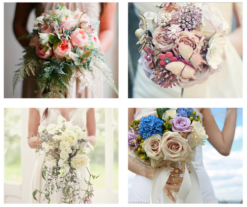 Which one is your favorite bouquet? Mine's the upper left one.