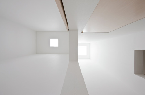 The ceiling of House M created by Jun Igarashi Architects that stands within Hokkaido, Japan