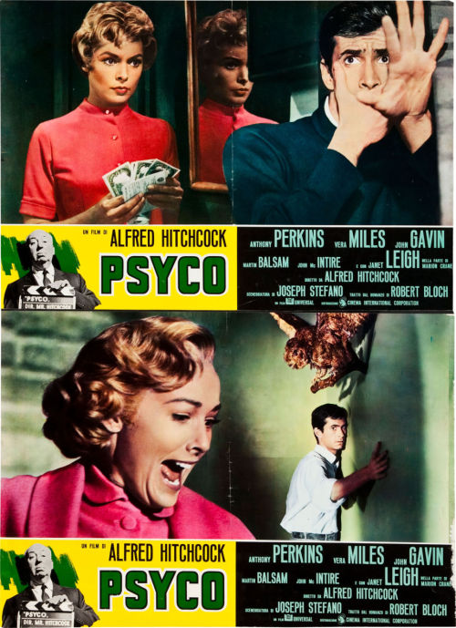 greggorysshocktheater:  Italian photobustas for Psycho (1960)