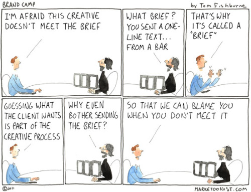 """Guessing what the client wants is part of the creative process."" Succinct and so true. One of the many reasons why working at an agency always keeps you on your toes."