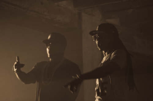 "Young Jeezy x Lil Wayne On The Set Of ""Ballin"""