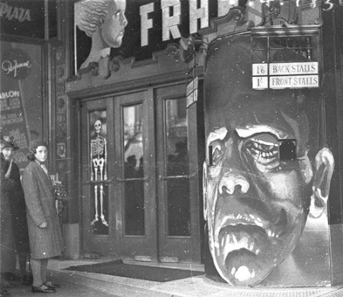 universal-horror:  Cinema Marquee for Bride of Frankenstein (1935) Regent Theater, Sydney, Australia.