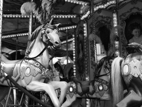 The carousel horses in Florence. Which my Courtney's friend insisted was called a ferris wheel. We made fun of him.