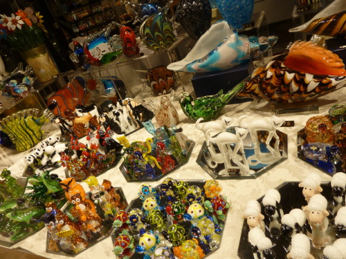 A glass menagerie of sorts in Venice. While Murano is actually where the glass is made (an island just off Venice, in the Venetian Lagoon), it is still known as 'Venetian Glass'. ps look at those sheep. I totally got one as a Glasgow/Venice souvenir. I bought mine in Murano though.