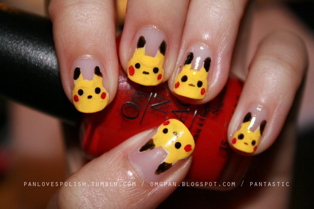 Pikachu nails~ tutorial & more pics on my blog here.